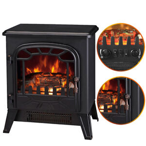 1850w Log Burning Flame Effect Stove Electric Fireplace Fire Heater Freestanding Ebay
