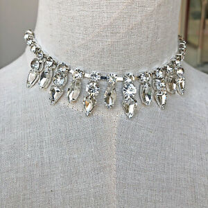 Sparkle-Colgante-Cadena-de-Cristal-Novia-Estras-Ribete-Diamante-Vestido-Motivo
