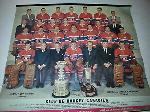 1959-60-PLAYERS-8-PHOTO-CALENDAR-MONTREAL-CANADIENS-STANLEY-CUP-TROPHIES-MORE