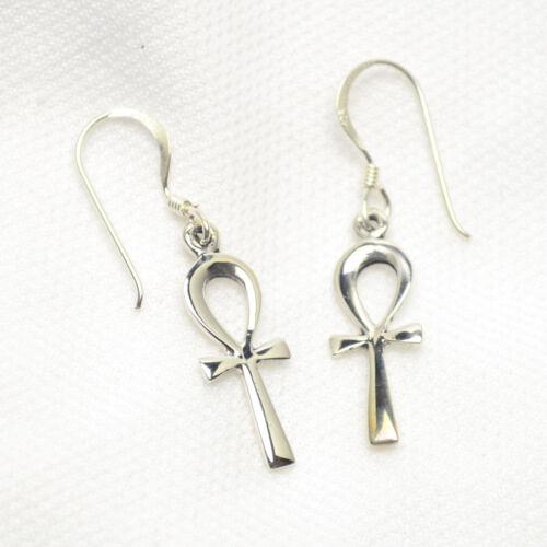 Ankh Henkelkreuz Ohrhänger Ohrringe echt 925 Silber Ohrschmuck