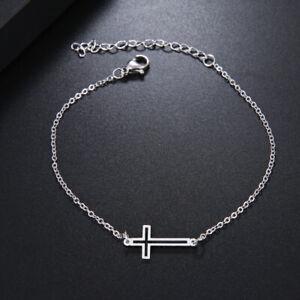 Womens-Girls-Cross-Bracelet-Stainless-Steel-Jewellery-Christmas-Gifts-FREEPOST