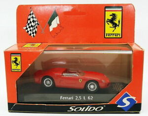 Solido 1/43 Scale Model Car 071732 - Ferrari 2.5  L 62 - Red