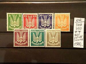 LUXUS Briefmarken Deutsches Reich Mi.Nr.: 344-350 BPP gepr. Postfrisch. KW 1500?