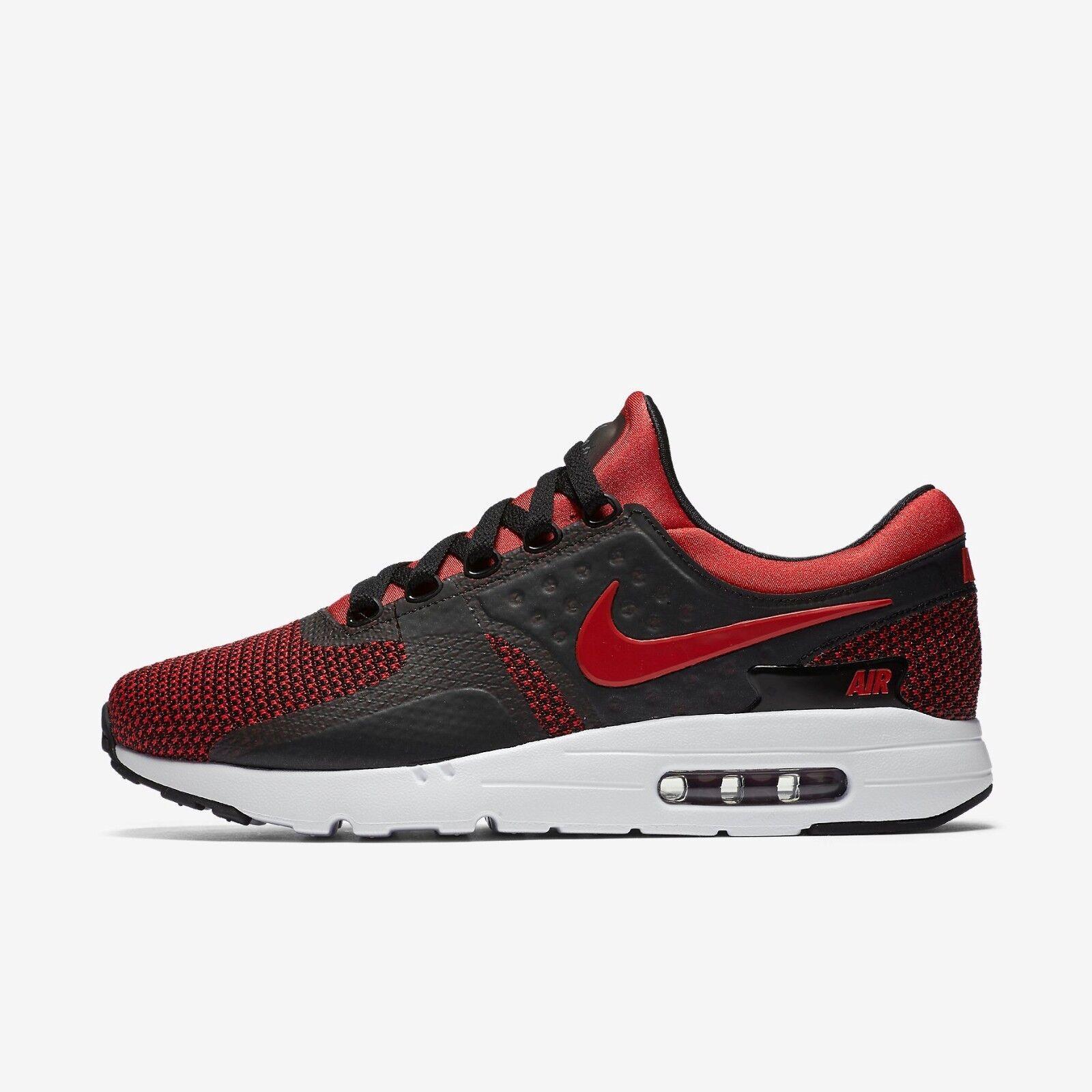 Nike air max zero essenziale 0 876070 600 università rosso / nero-white - rete ultra
