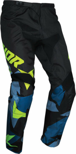 Thor MX Motocross 2021 Youth Sector Warship Pants Choose Size Blue//Acid