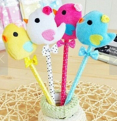 Cartoon Bowknot Chicken Dot Colorful Ball Pens Ballpen ~Random Color~ 1PC:)