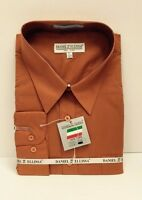 Daniel Ellissa Orange Dress Shirt Long Sleeve W/pocket & Convertible Cuff Mens