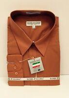 Daniel Ellissa Orange Dress Shirt Long Sleeve W/pocket & Convertible Cuff Mens
