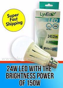 24W-LED-GLS-Light-Bulb-BC-Bayonet-Cap-B22-Push-In-150W-Very-Bright