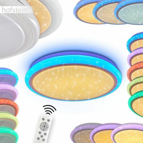LED Decken Leuchte RGB Farbwechsler Wohn Schlaf Zimmer Lampe Fernbedienung rund