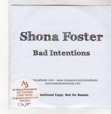 (BK539) Shona Foster, Bad Intentions - 2011 DJ CD