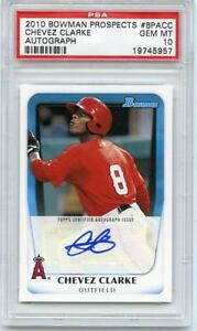 2010-BOWMAN-BPA-CC-CHEVEZ-CLARKE-AUTO-ROOKIE-RC-ANAHEIM-ANGELS-PSA-10-GEM-MT