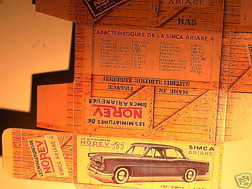 NOREV 1960 REFABRICATION BOITE SIMCA ARIANE