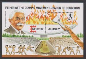 Jersey-1996-Du-Sport-Anniversaires-Feuille-MNH-Sg-MS751