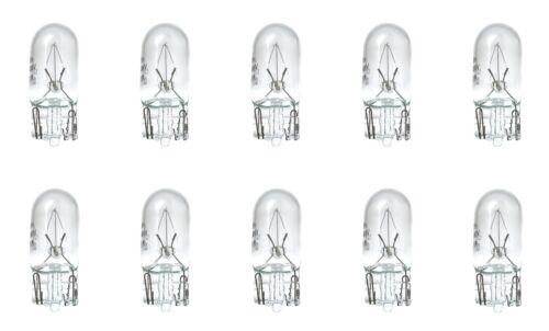 10x W5W Glühbirnen Lampen Glühlampen Autolampen W2.1x9.5d 12V 5W E4 EU Zulassung