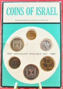 Israel Official Mint Lira Coins Set 1967 Uncirculated