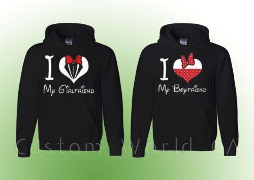 Couple Sweatshirt I Love Heart My Boyfriend and Girlfriend Couple Hoodie
