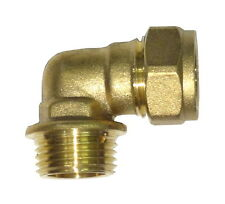 """8mm Compression x 1/4"""" BSP Male Iron Elbow 
