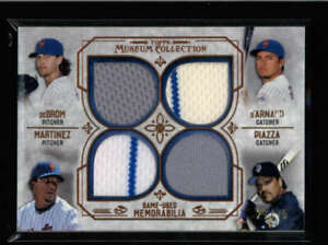 DEGROM-PIAZZA-PEDRO-2015-TOPPS-MUSEUM-METS-QUAD-GAME-JERSEY-27-75-AX5320