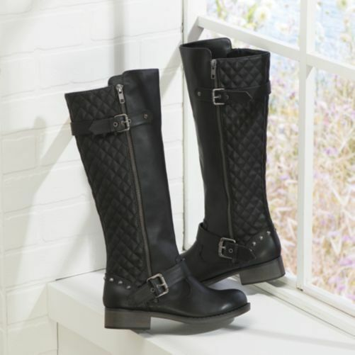 NEW WOMENS DOLCE BY MOJO MOXY BLACK TINKER BOOTS SIZE 8.5M 8.5 M