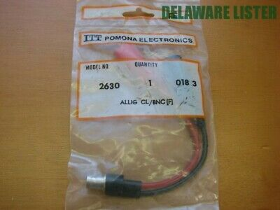 "New 48"" Pomona B-48-5 Stacking Banana Plug Patch Cord Green 30vac 60dc"