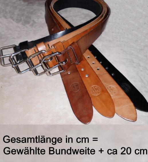 EinDorn LEDERGÜRTEL 1 Dorn 4cm Breit GS-LEATHER rob ustes Sattlerleder NEU     | Sehr gelobt und vom Publikum der Verbraucher geschätzt