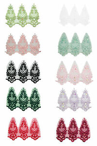 "10 Color 6"" Sheer Organza Bridal Beaded Sequins Embroidery Lace by Yard"