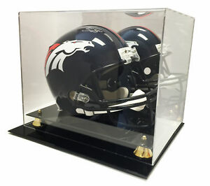 Helmet is Not Included Mini Helmet Display Case Deluxe with Mirror Back