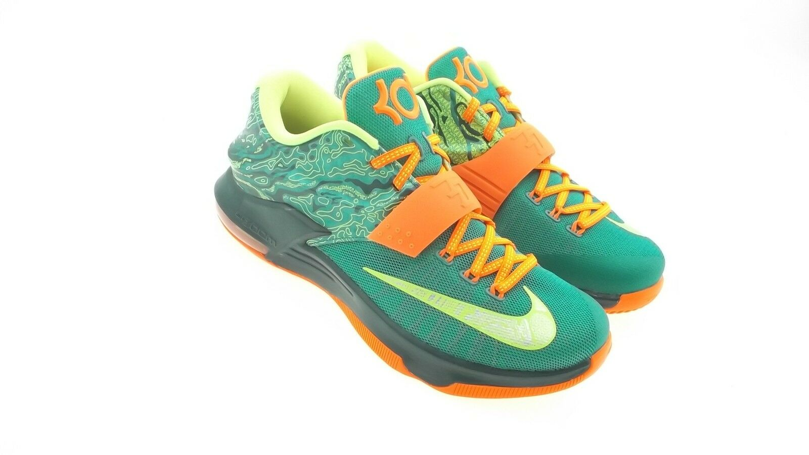 653996-303 Nike Men KD VII green emrld grn mtllc slvr The latest discount shoes for men and women