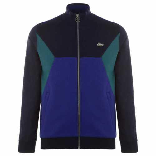 Mens Lacoste Colour Block Jacket Full Zip Sweater Long Sleeve New