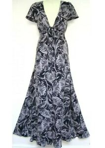 BNWT-034-MONSOON-034-Size-10-MARIANNE-BLACK-FLORAL-SILK-MAXI-DRESS-38EU-RRP-140