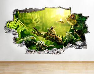 C218-animales-de-la-selva-serpiente-do-pegatina-pared-vinilo-3d-habitacion-ninos
