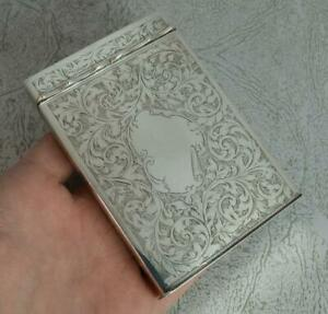 Superb-Victorian-Hallmarked-Silver-Playing-Card-Case-Holder