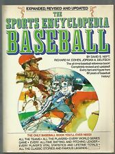 The Sports Encyclopedia : Baseball by Jordan A. Deutsch, David S. Neft 1977 SC