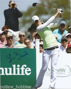 LPGA-Laetitia-Beck-Autographed-Signed-8x10-Photo-COA-D