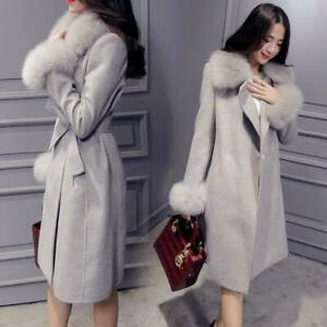 Womens Furry Floral Overcoat Winter Chinese Vintage Parka Thicken Folk Long Coat