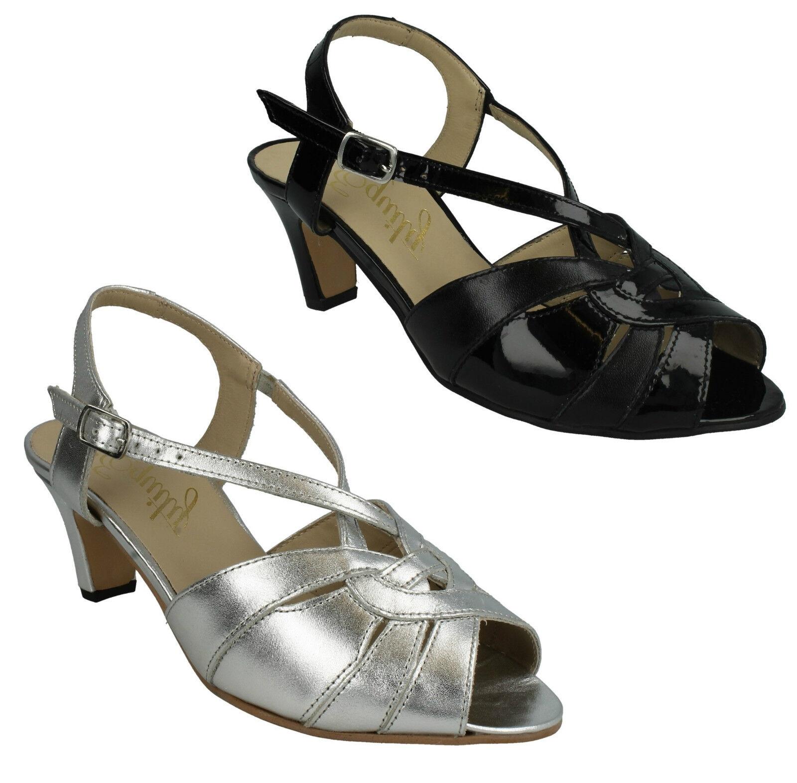 Sarah señoras equidad Peep Toe Hebilla ESLINGA ESLINGA ESLINGA vuelta amplia Kitten Danza Sandalias  producto de calidad