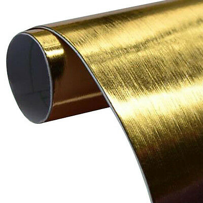 Brushed Chrome Gold Vinyl Wrap Air Release Bathroom Kitchen Wall Covering