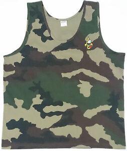 Taille XXL //120 Débardeur camouflage avec écusson brodé 2°REP LÉGION ÉTRANGÈRE