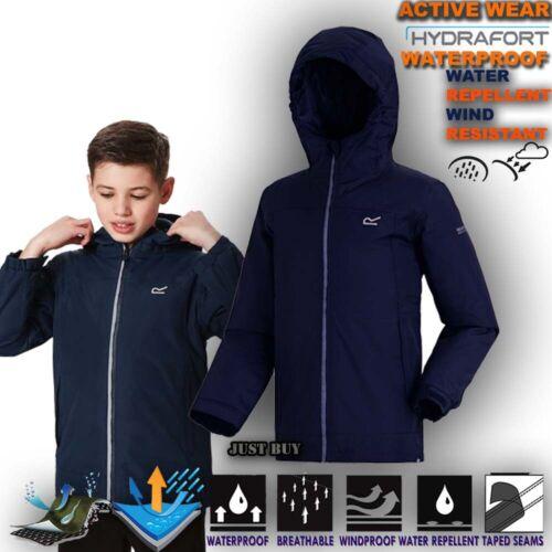 Kids Waterproof Padded Jacket Insulated Raincoat Hiking Camping Hoodie Hurdle
