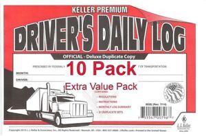 J-J-Keller-8526-701L-Duplicate-Copy-Driver-039-s-Daily-Log-Book-Carbonless-Pac