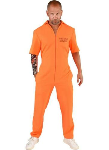 Sträfling Kostüm Anzug Overall Sträflingskostüm Häftling Gefangener Knacki