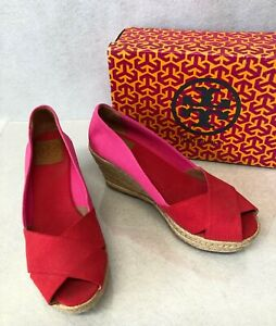 8dfd6ae4e Image is loading Tory-Burch-Filipa-Color-Block-Espadrille-Wedge-Women-