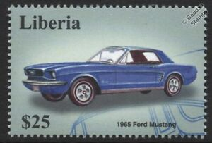 Ford Mustang 1965 Classic Car Stamp-afficher Le Titre D'origine