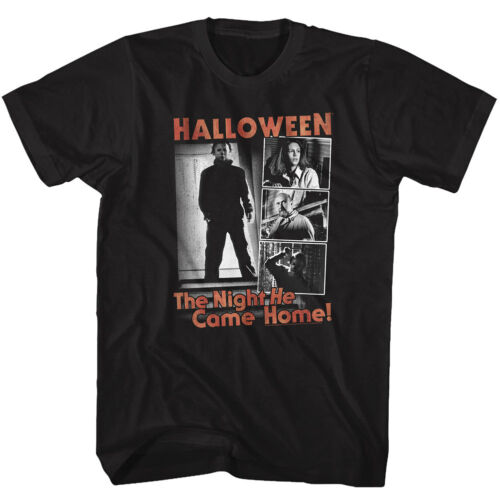 Halloween Michael Myers 4 Different Movie Frames Adult T Shirt Great Scary Movie