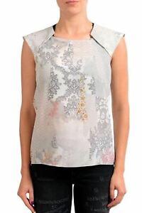 Maison-Margiela-1-100-Silk-Multi-Color-Sleeveless-Women-039-s-Blouse-Top-US-M-IT-42