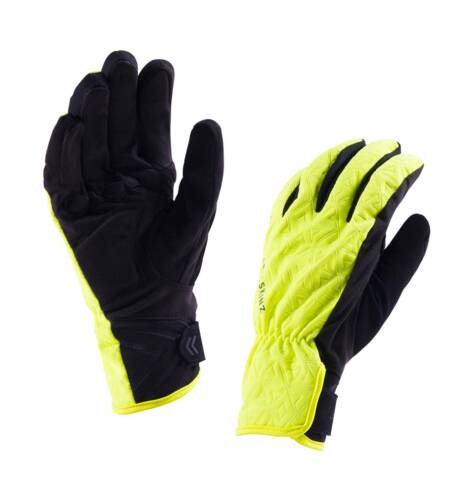 Hi Vis Yellow winter Sealskinz Women/'s Waterproof All Weather Cycling Gloves