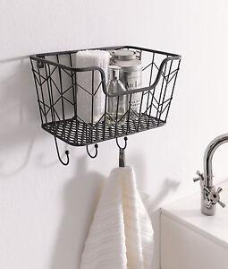Hängekorb Küche Metall | Wandkorb Fullkorb Hangekorb Handtuchhalter Schlusselhaken Metall