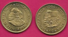 1964 South Africa Covered wagon coin 1 cent