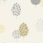 Rasch Mustard Yellow Grey Silver Glitter Tree Bird Textured Wallpaper 309508